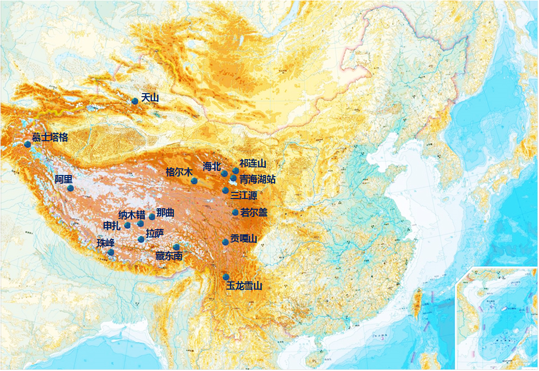 Surface environment and meteorological data of observation network in alpine regions of China (2019)
