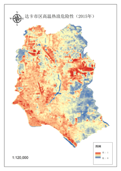 Data set of key factors of heat wave risk in Dhaka, Bangladesh, 2015