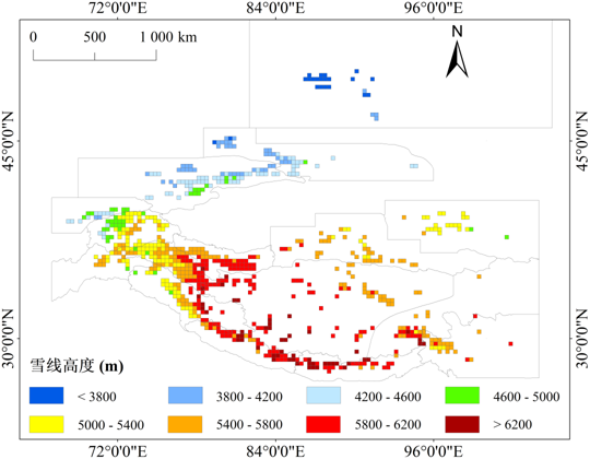 30km Gridded dataset of Snowline altitude in High Mountain Asia (2001-2019)