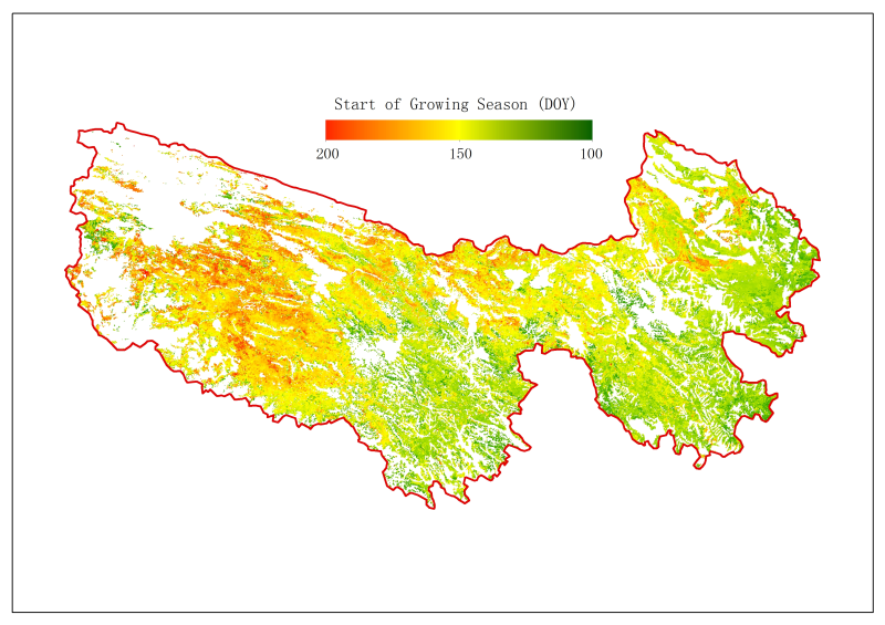 MODIS NDVI based phpenology for Sanjiangyuan (2001-2014)