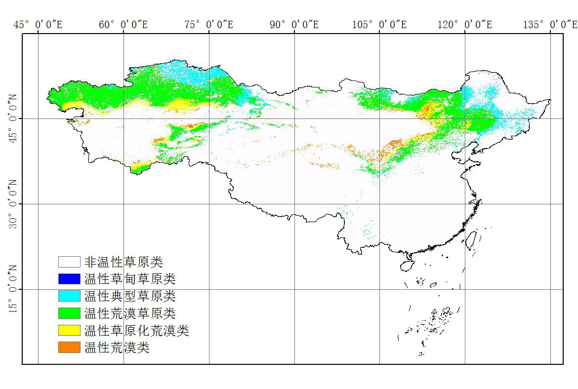 Classification map of grassland in Eurasia (2009)