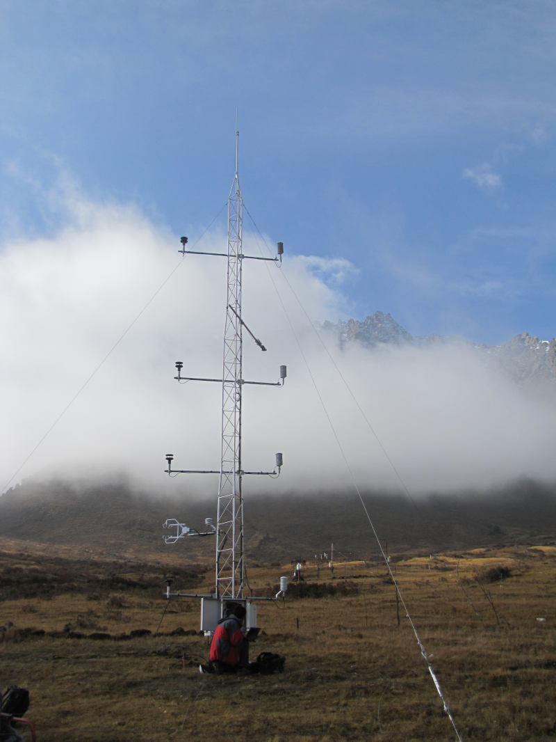 Eddy covariance data in Hulugou sub-basin of alpine Heihe River (October - December, 2011)