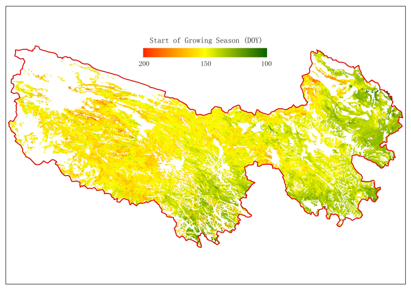 SPOT Vegetation NDVI-based phenology for Sanjiangyuan (1999-2013)