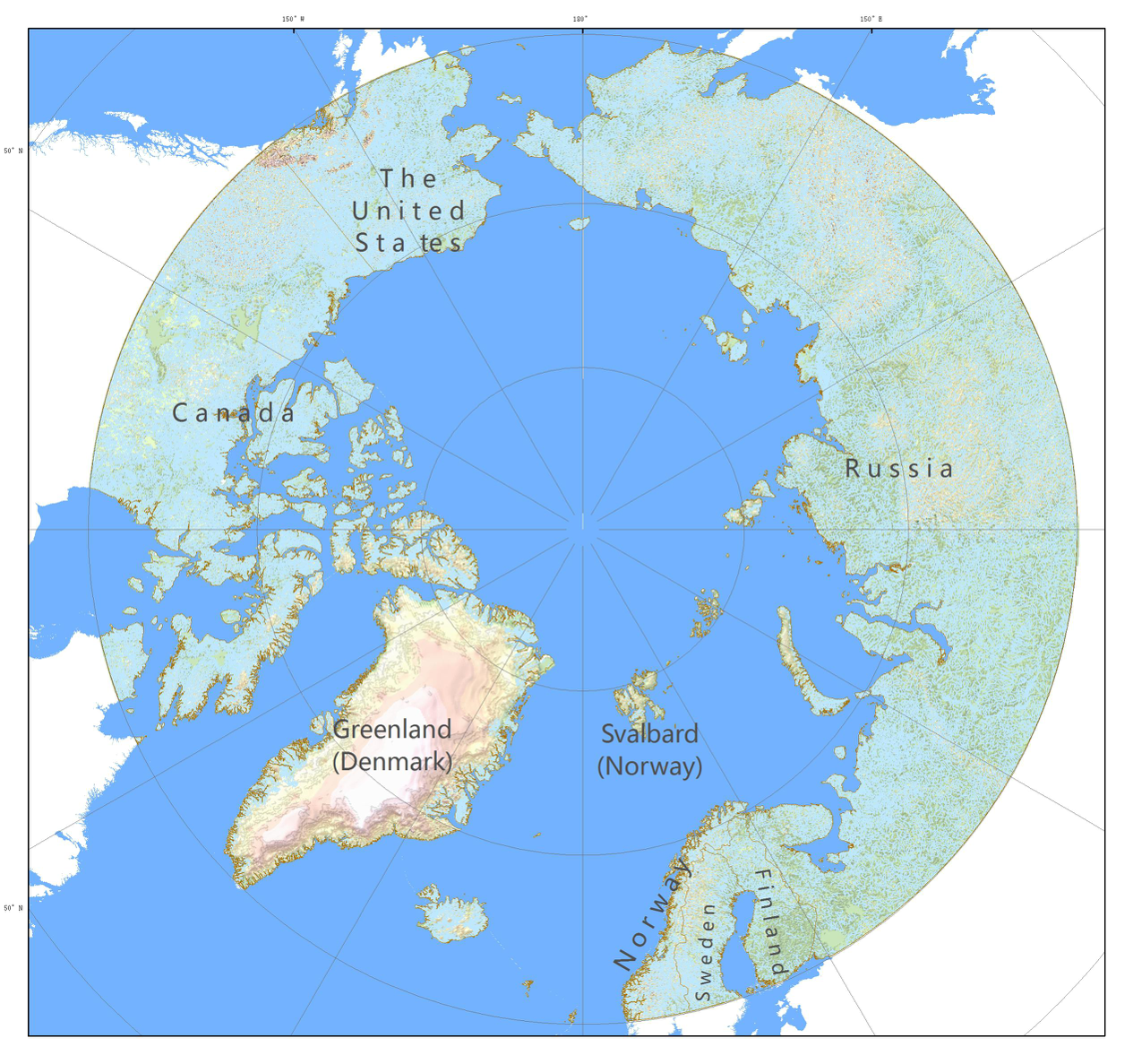 Water system dataset 1:1000,000 in the  Arctic (2014)