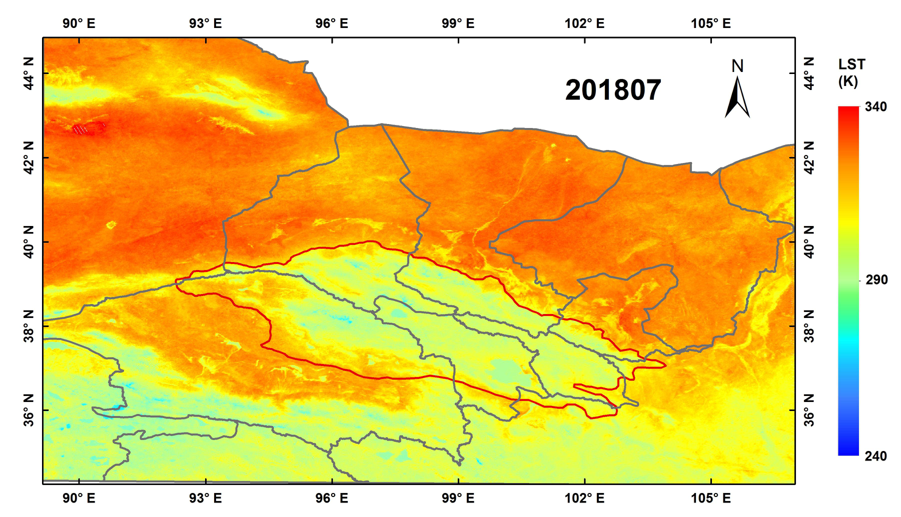 Daily 0.01 °× 0.01 ° surface temperature data (v1.0) based on myd21a1 temperature data in Qilian Mountain Area (2018)