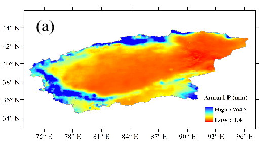 Changes of water balance and NDVI data in the Tarim River Basin (2002-2014)