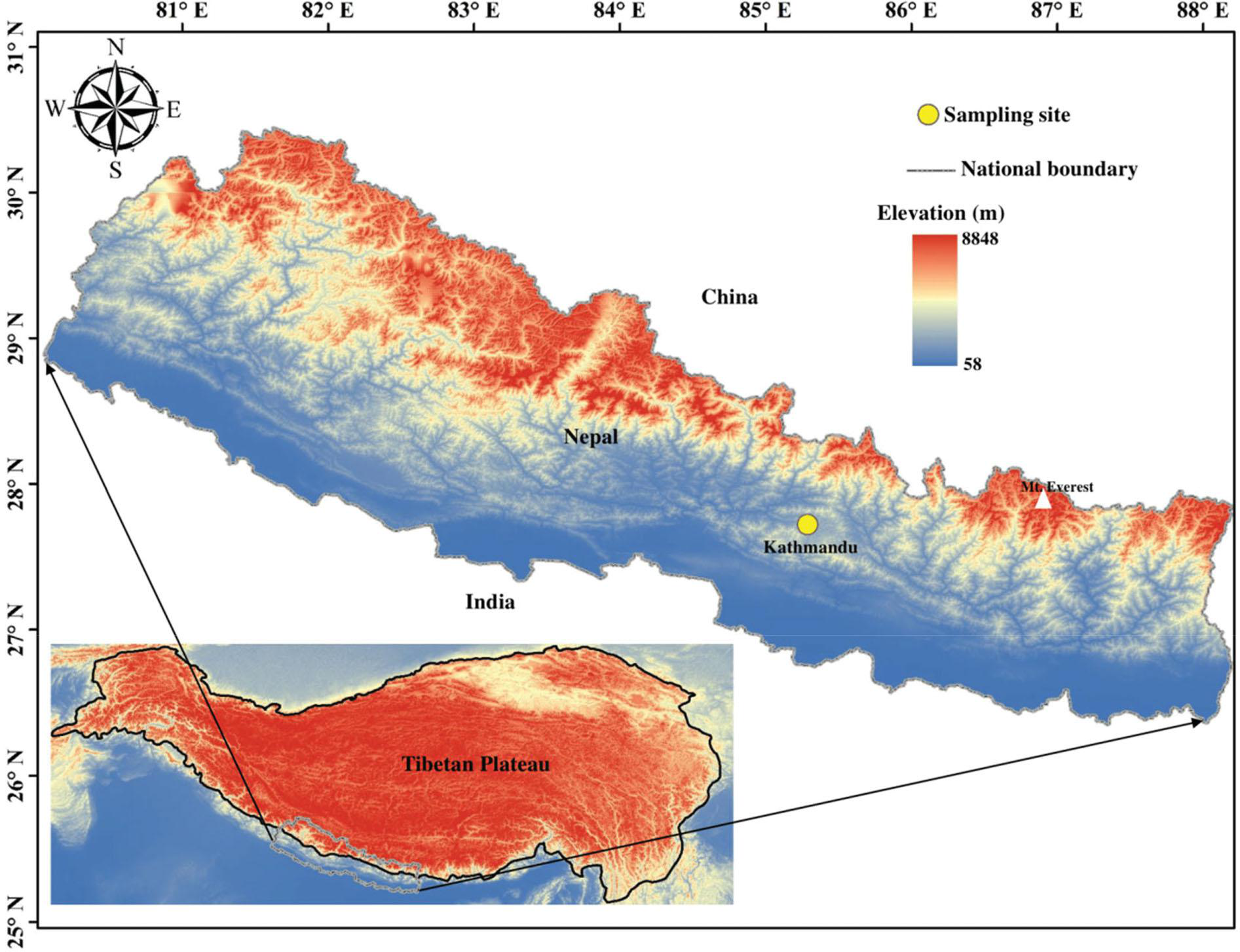 Hydrogen and oxygen stable isotope data set of Kathmandu precipitation (2016-2018)