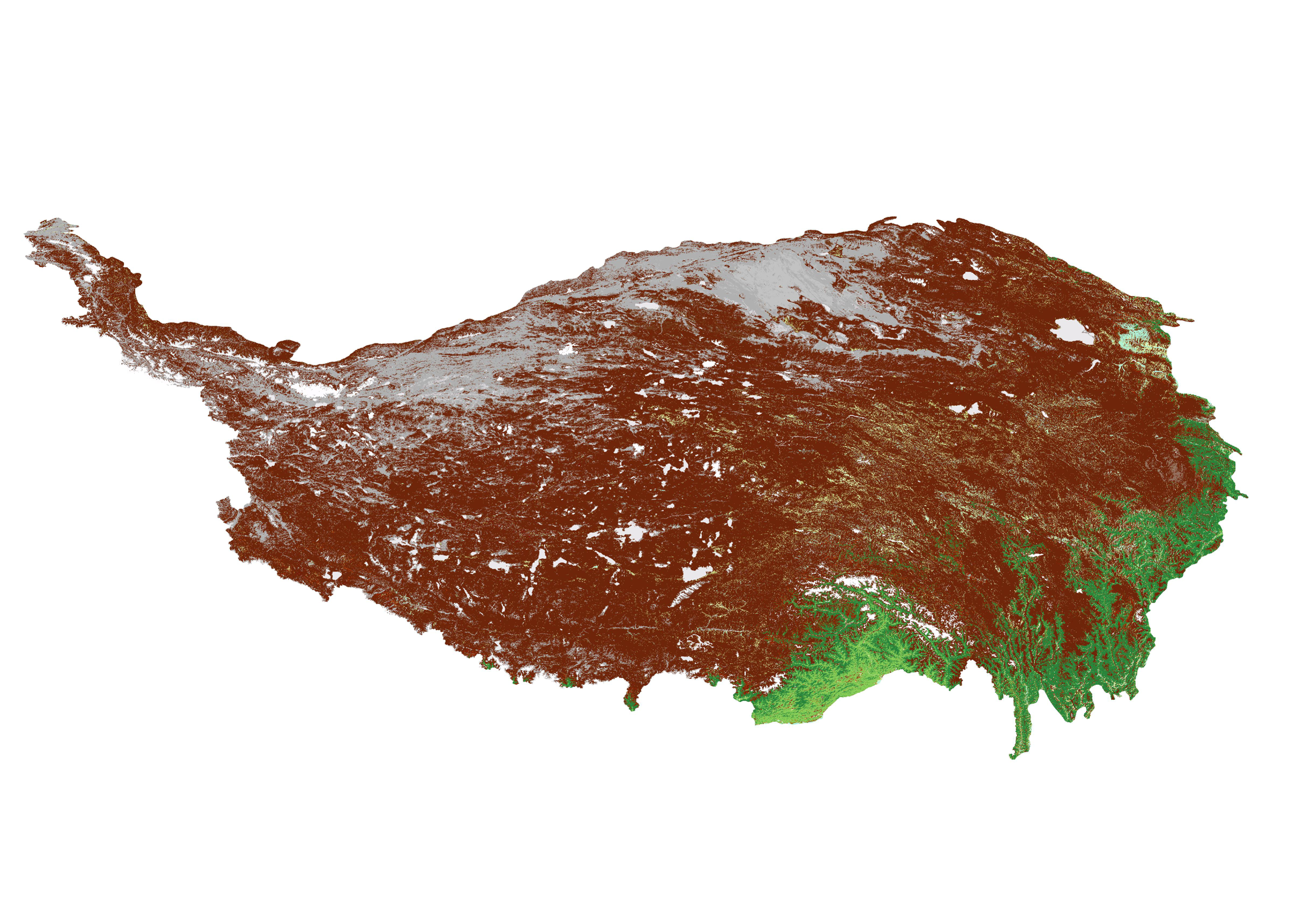 Landcover data of the Tibetan Plateau (2014)
