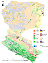 Landuse/landcover data of the Heihe River Basin in 2000