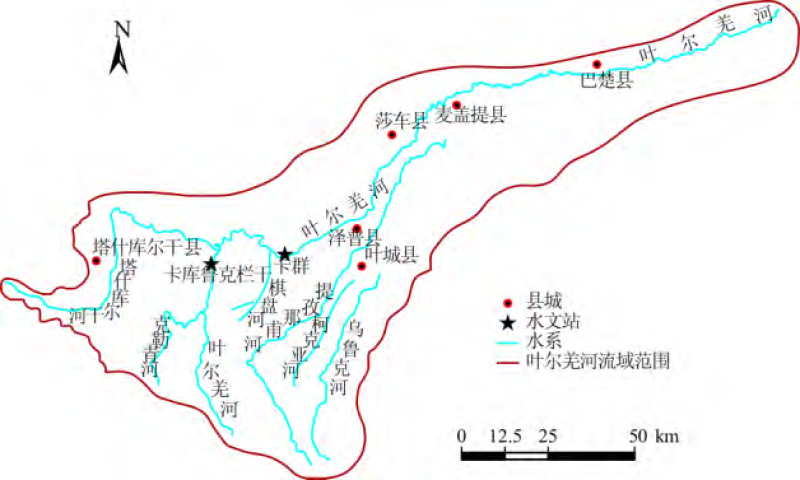 Population, urbanization, GDP and industrial structure forecast scenario data of the Yerqiang River Basin (Version 1.0) (2010-2050)
