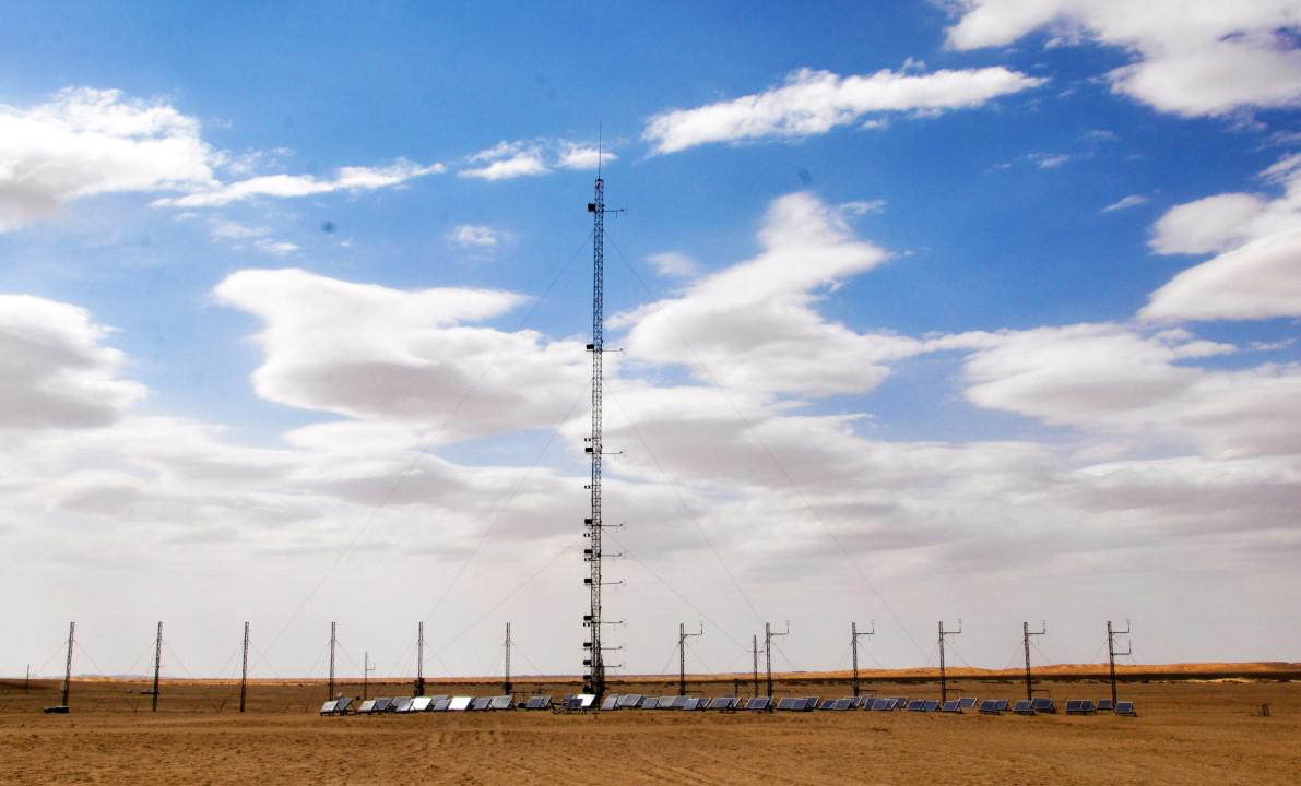 Cold and Arid Research Network of Lanzhou university (eddy covariance system of Minqin station, 2019)