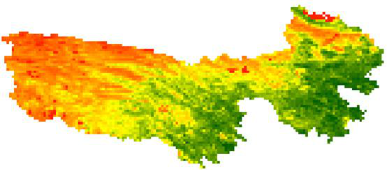 Spot vegetation NDVI dataset for Sanjiangyuan (1998-2013)