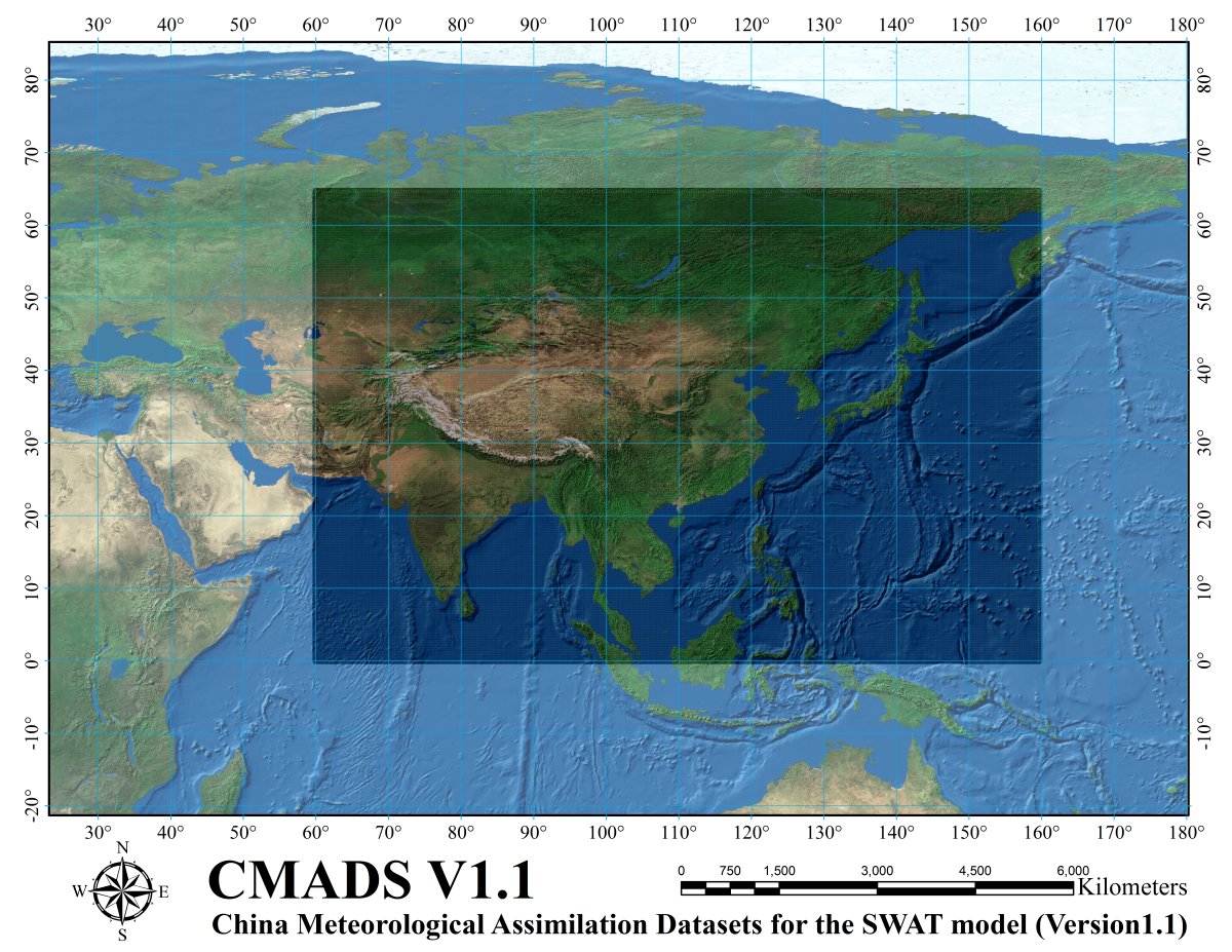 China meteorological assimilation driving datasets for the SWAT model Version 1.1 (2008-2016)
