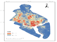 Spatial distribution data set of extreme precipitation disaster risk in Yangon deepwater port area (2019)