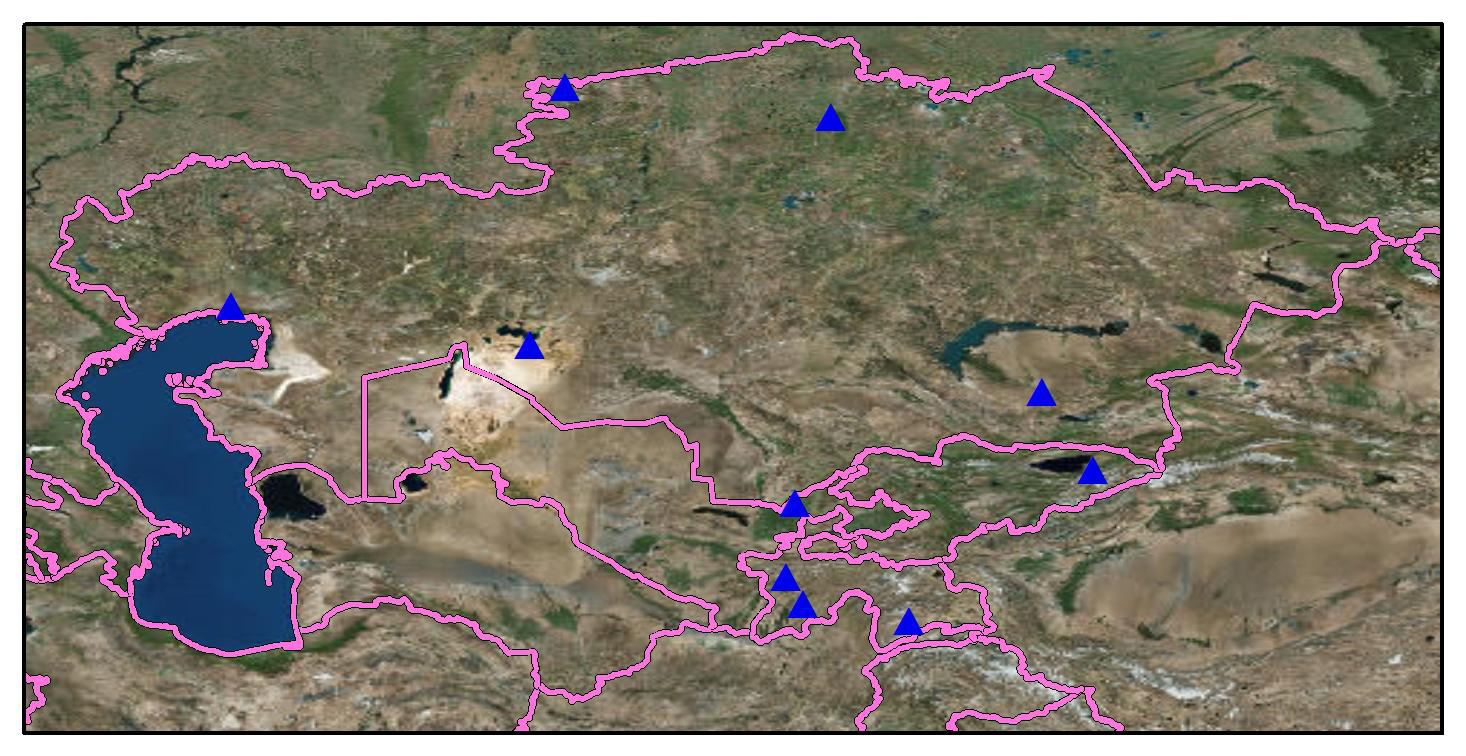 Central Asian meteorological station observation dataset (2017-2018)
