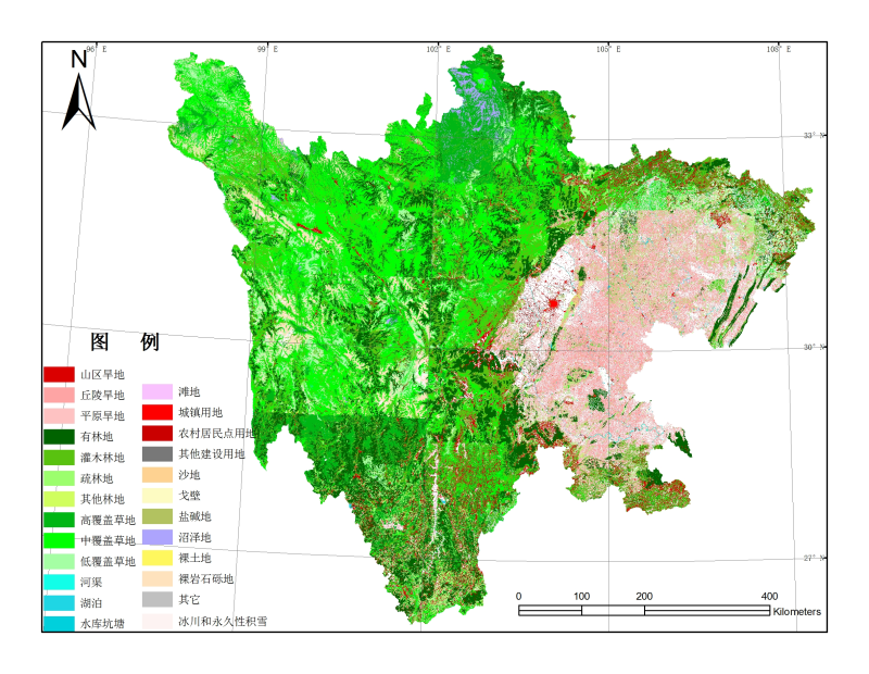 1:100,000 landuse dataset of Sichuan Province (1980s)