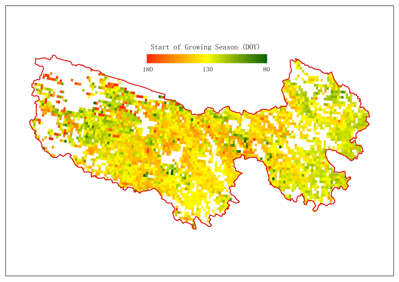 GIMMS3g NDVI-based phenology for Sanjiangyuan (1982-2015)