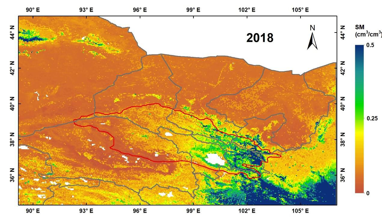 Daily 0.05°×0.05° Land Surface Soil Moisture Dataset of Qilian Mountain Area (2018,SMHiRes, V1)