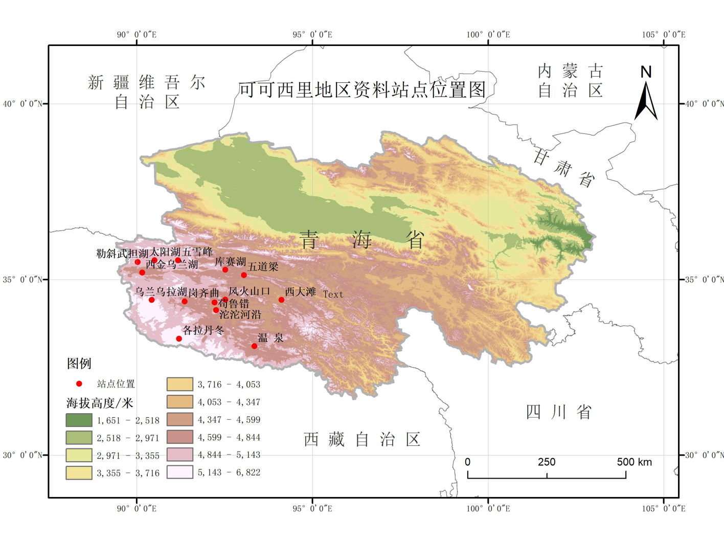 Data set of climatic elements in Hoh Xil area, Qinghai Province (1990)