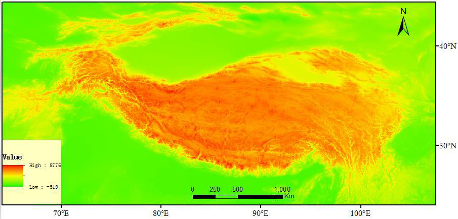 The ASTER_GDEM dataset of the Tibetan Plateau (2011)