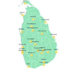 Regular meteorological element datasets for 22 observing sites in Sri Lanka (2008-2018)