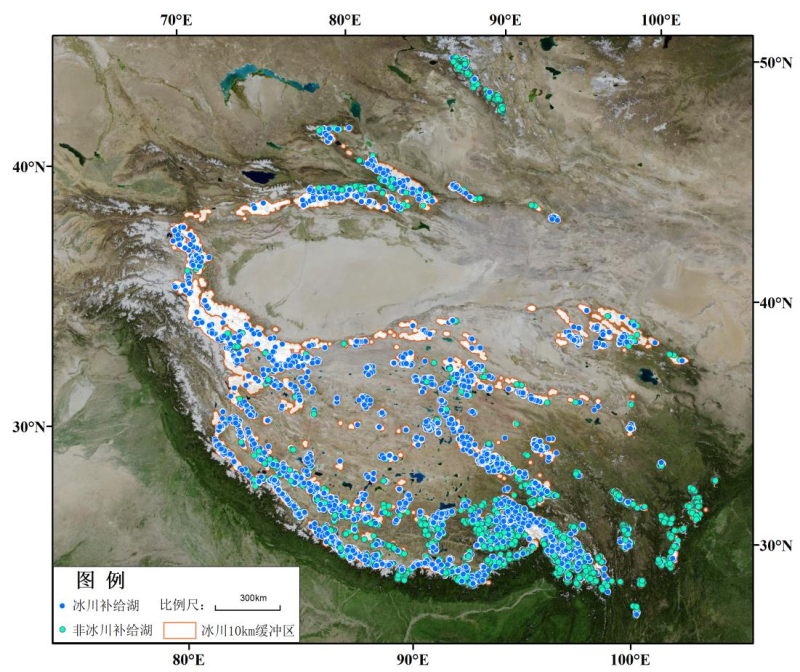 Inventory data of glacial lake in west China (2015)