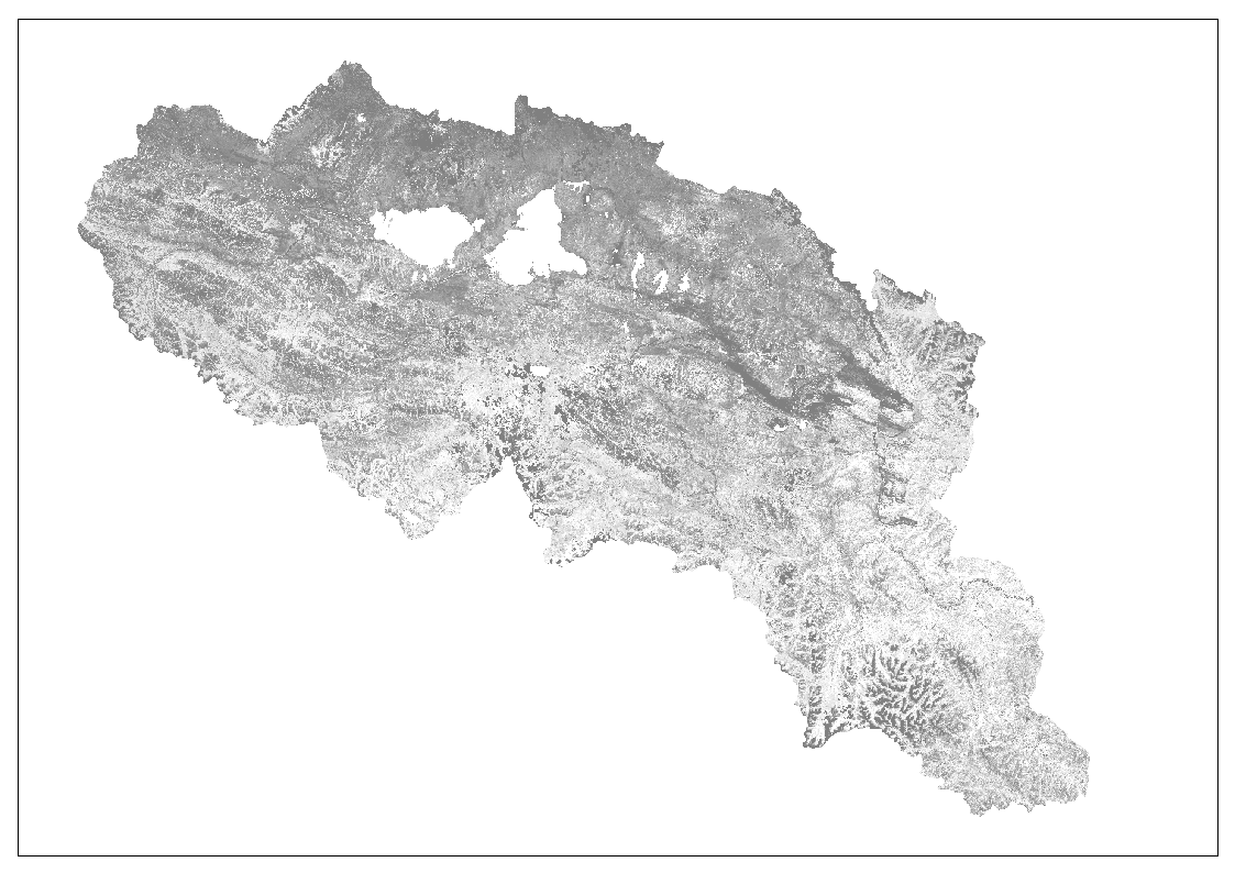 The map of fractional vegetation cover in the Yellow River source region of Tibet Plateau (2015)