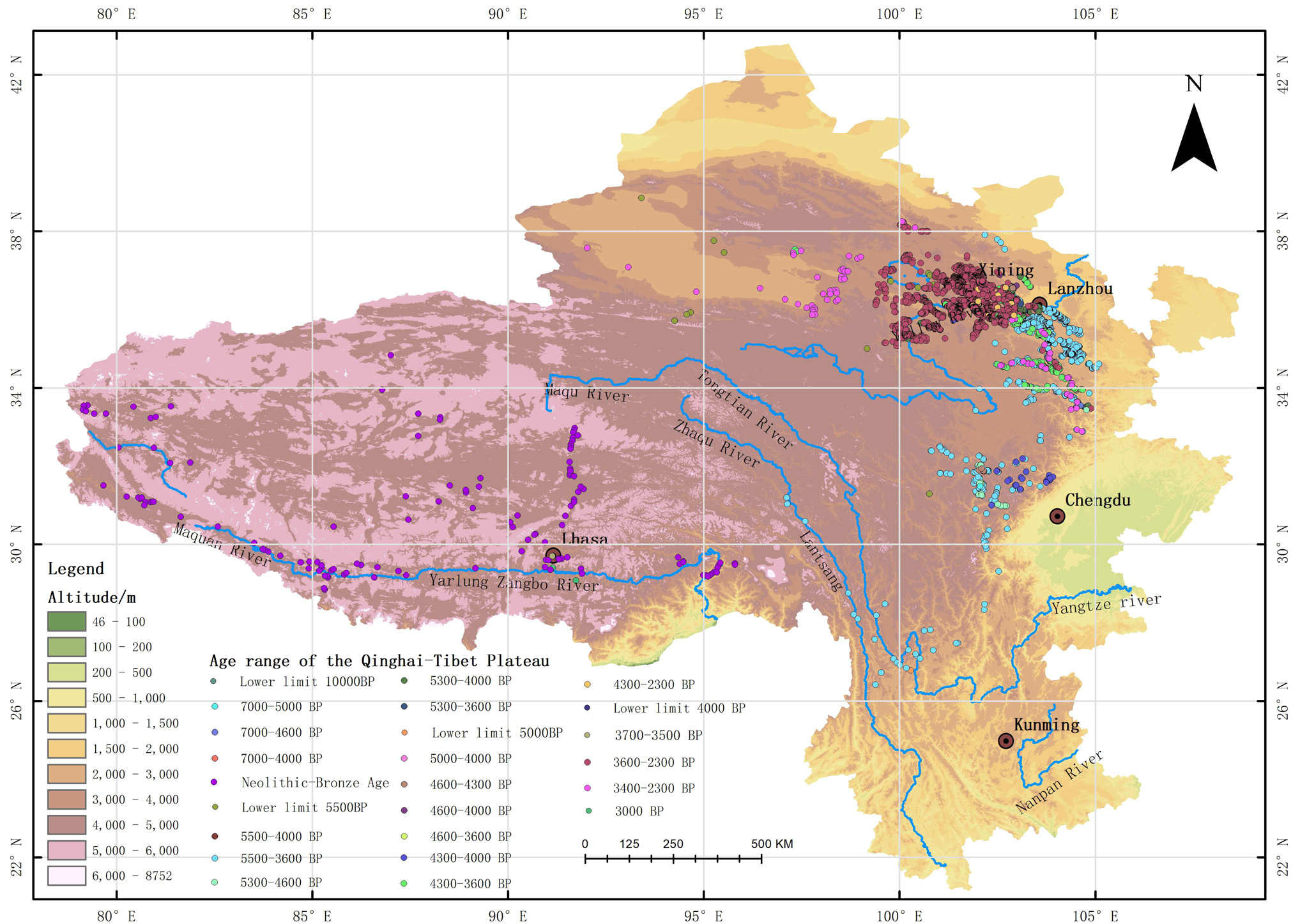 Distribution dataset of prehistoric era ruins on the Tibetan Plateau and its surrounding areas