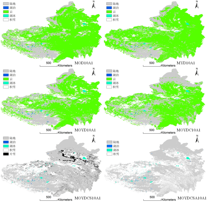 MODIS daily cloudless snow products in the Tibetan Plateau (2002-2010)