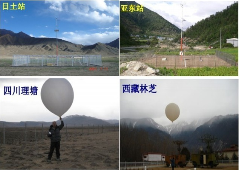 Dataset on atmospheric water cycle changes and the impact in a key area of the Tibetan Plateau under the background of global warming (2008)