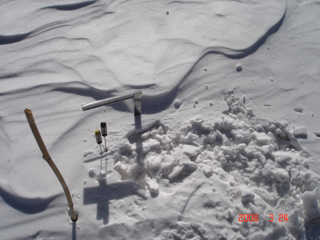 WATER: Dataset of ground truth measurements for snow synchronizing with the airborne PHI mission in the Binggou watershed foci experimental area (Mar. 24, 2008)