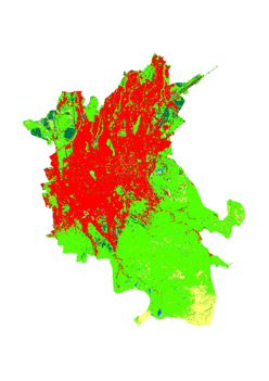 Land cover dataset of Pan-Third Pole major cities during 2000-2017