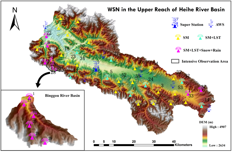HiWATER: WATERNET observation dataset in the upper of Heihe River Basin (2015)