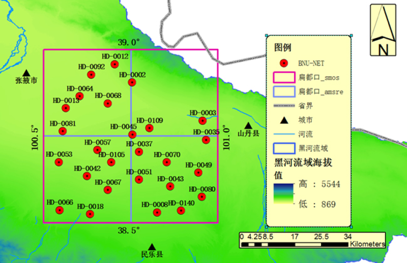 HiWATER: BNUNET soil moisture and LST observation dataset in the middle reaches of the Heihe River Basin from  Sep., 2013 to Mar., 2014
