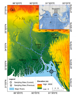 Precipitation stable isotope data set of multiple observation sites in Bangladesh(2017-2018)
