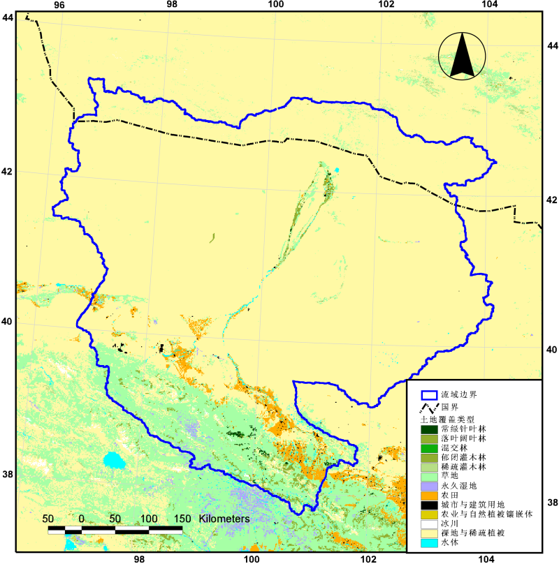 MICLCover land cover map of the Heihe river basin (2000)