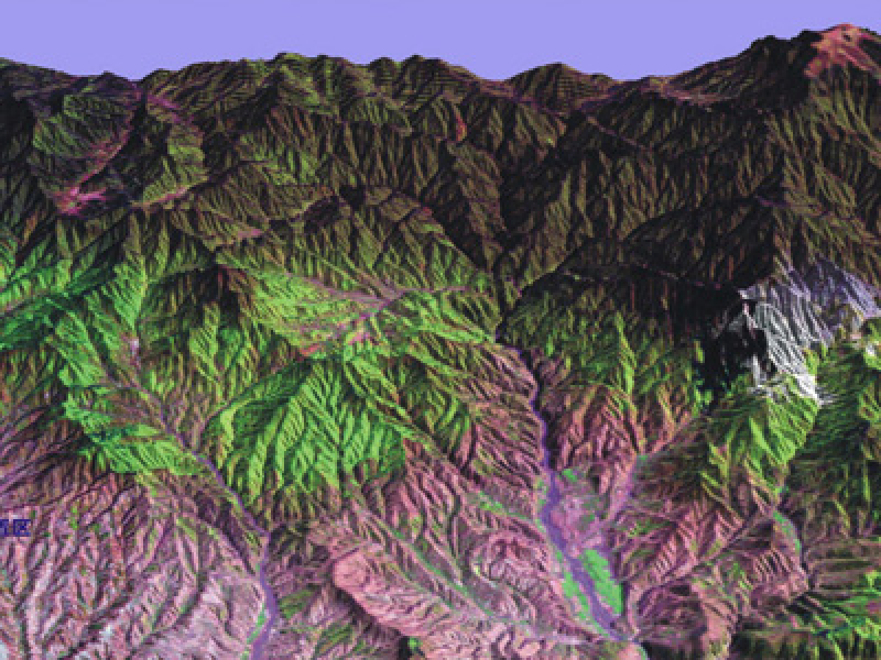 The digital elevation model of the Tibetan Plateau (2000)