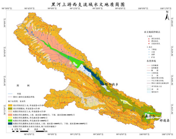 Data set of hydrogeological elements in Typical Permafrost Area of Qilian Mountain (2019)