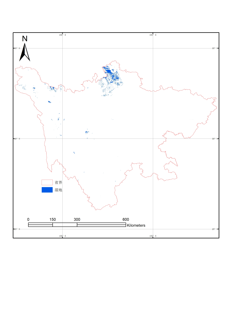 1:1 million wetland data of Sichuan province (2000)