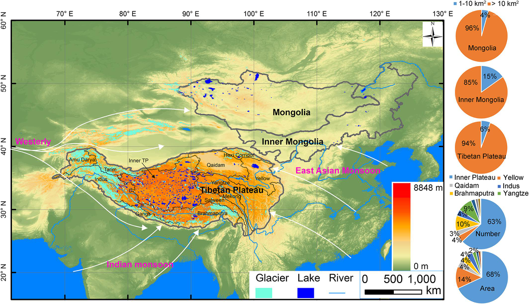 Long-term sequence dataset of lake area on the Tibetan Plateau (1970-2013)