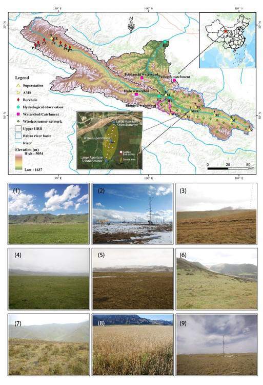 Integrated hydrometeorological – snow – frozen ground observations in the alpine region of the Heihe River Basin, China