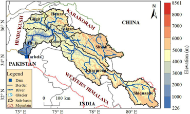 The ice storage in the Upper Indus River basin using Ground Penetrating Radar (GPR) and Glacier Bed Topography version2 modeling