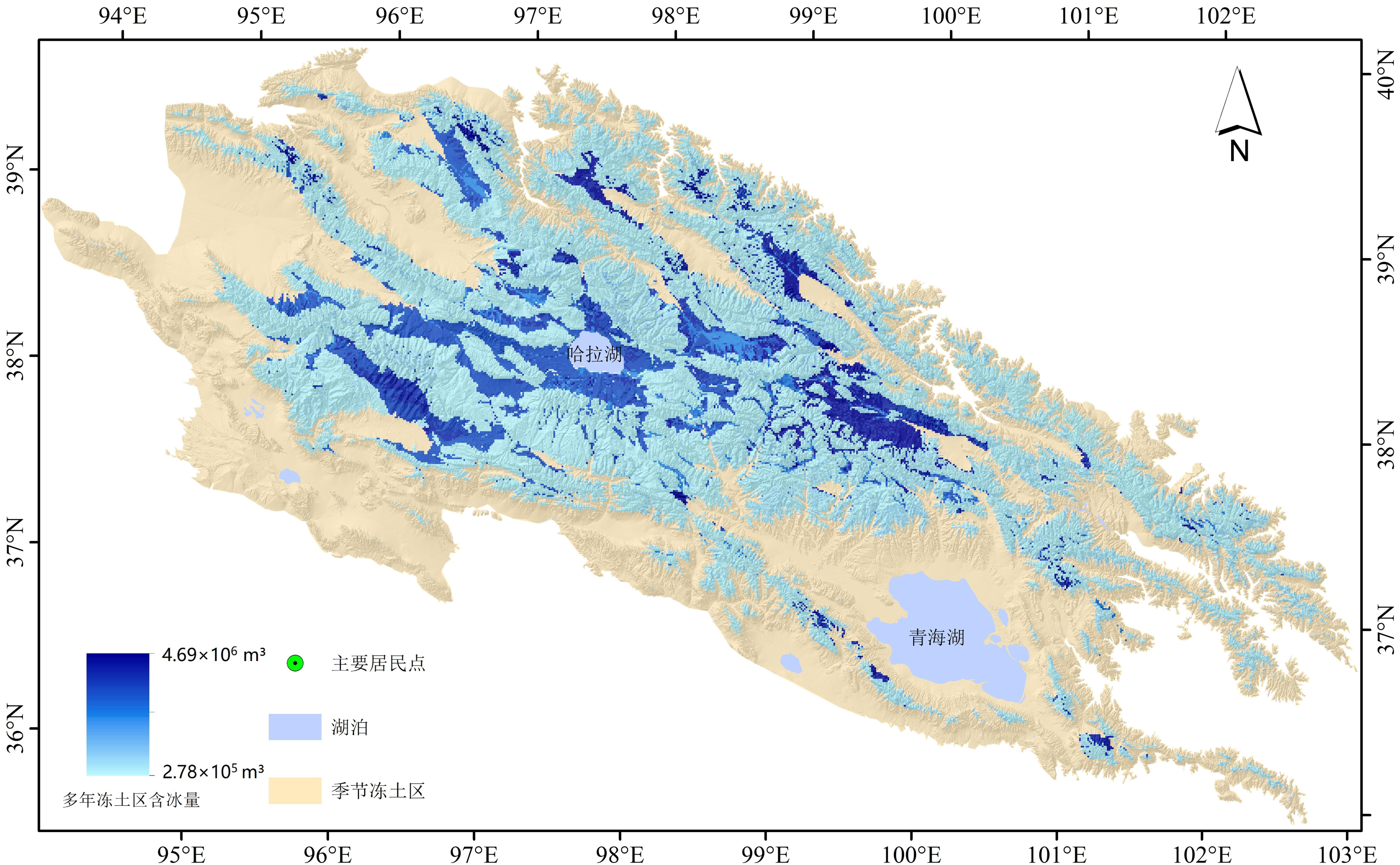 Distribution data of underground ice in permafrost regions of Qilian Mountains (2013-2015)