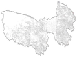 Population centres data at 1:250 000 in Sanjiangyuan region (2015)