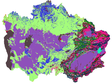 Land use data set in Central Asia l(1970, 2005, 2015)