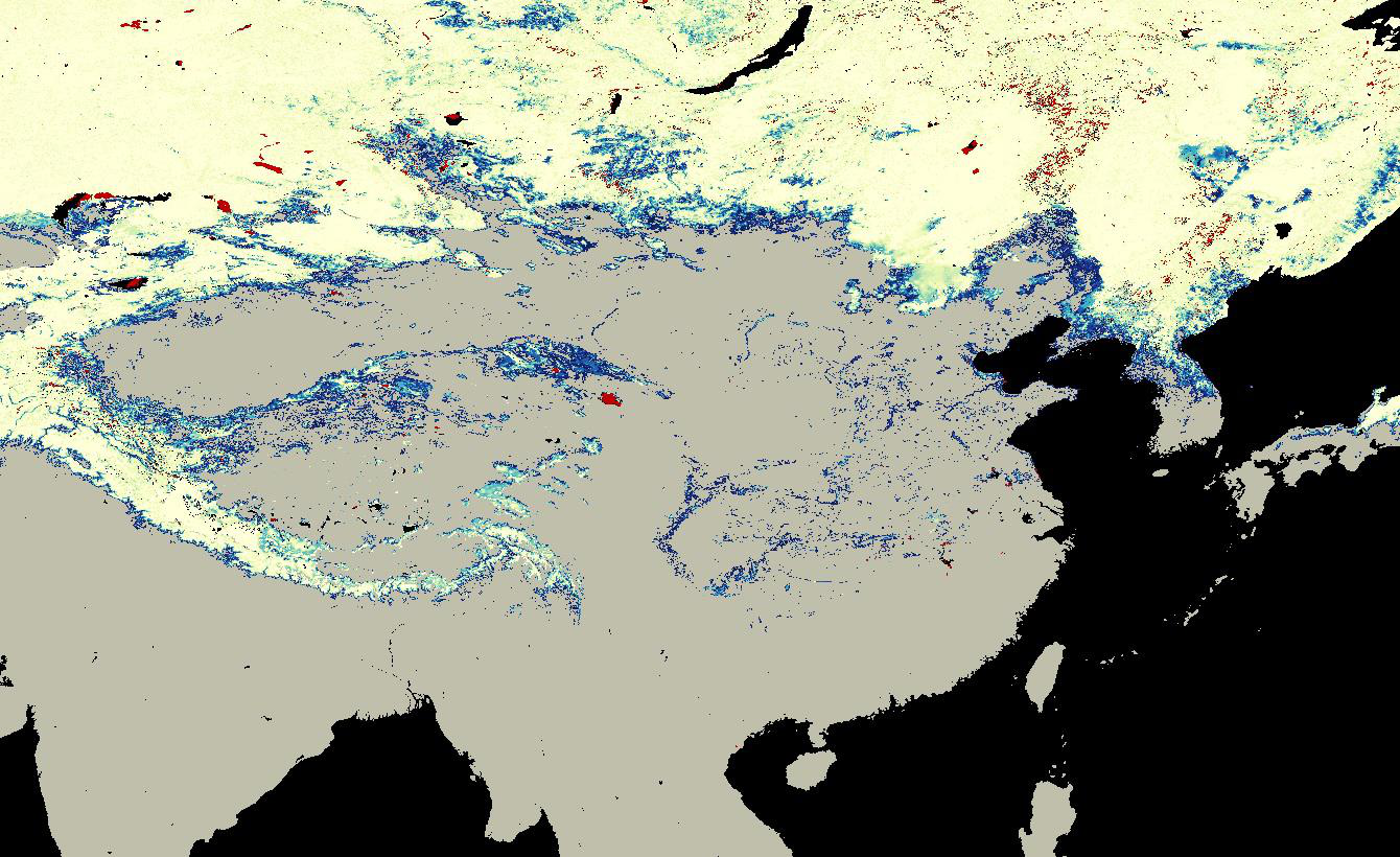 Cloud-free Fractional Snow Cover from Blended MODIS and FY-2 VISSR