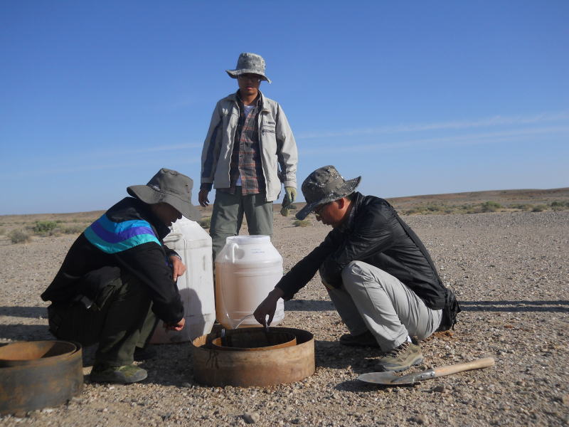 Infiltration test dataset in Heihe watershed of Gansu province (2012)