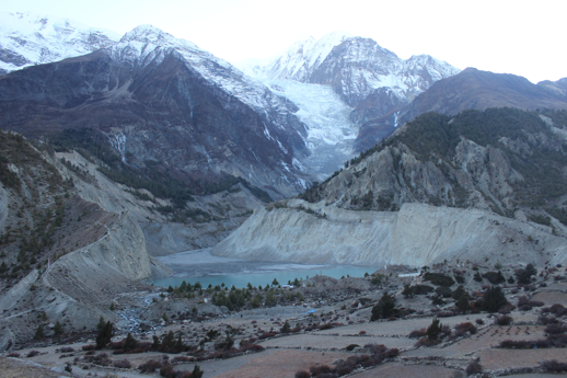 Tree age data sampled from different glacier moraines in the central Himalayas