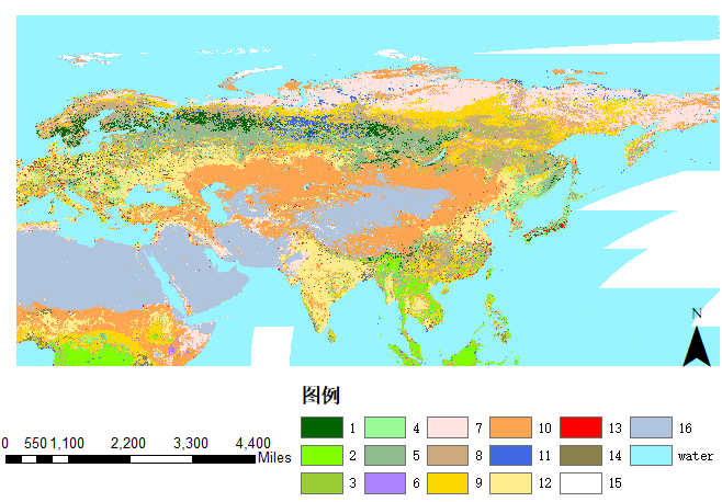 Based on MODIS land vegetation cover classification product Sixth Edition (mcd12q1)_ The pan third pole vegetation cover product data set of v06 (2001-2017)