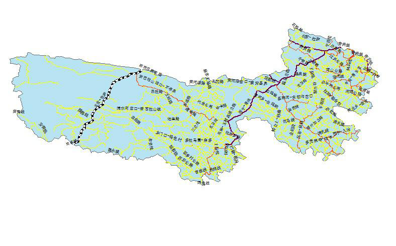 Primary road network dataset at 1:1000 000 in the Sanjiangyuan region (2017)